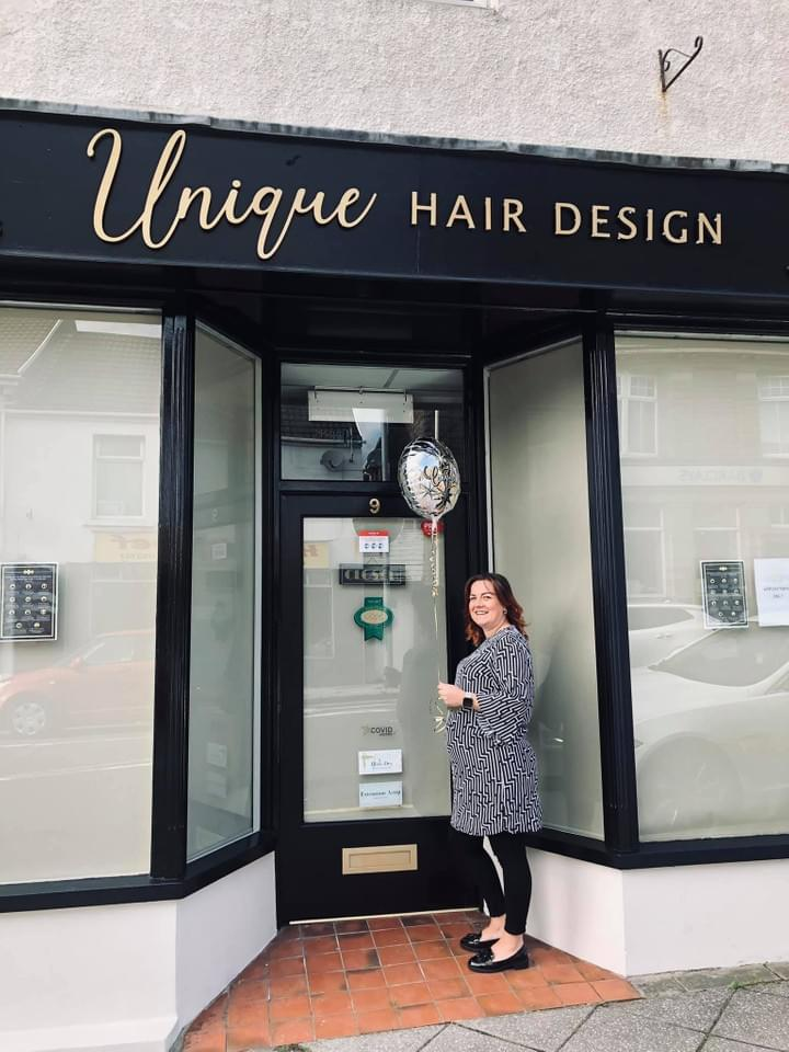 Unique Hair Design Salon Front Welcomes you
