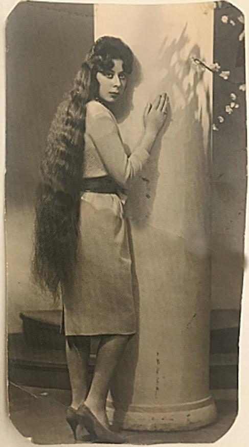 Ghada Bader, 1950's, the Rapunzel and Lady Godiva of Beirut