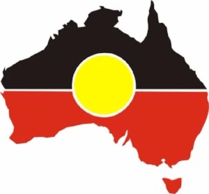 Aboriginal design for Australia map