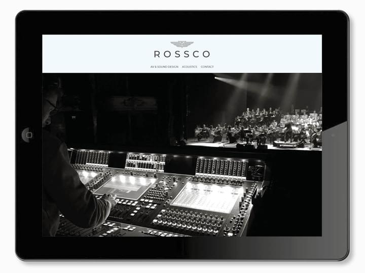 Rossco - AV & Sound Design & Acoustics - Brand Identity & Website design