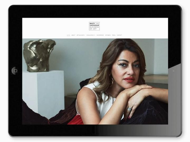 Nazy Vassegh Art Consultant - Brand identity and website design