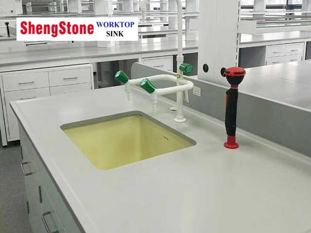 lab furniture ceramic marine worktop and sinktop