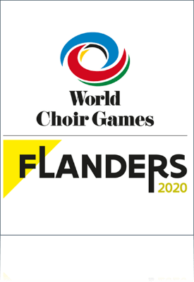 Logo for World Choir Games Flanders 2020