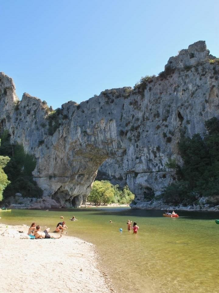 The famous Pont d'Arc in the Ardèche canyon