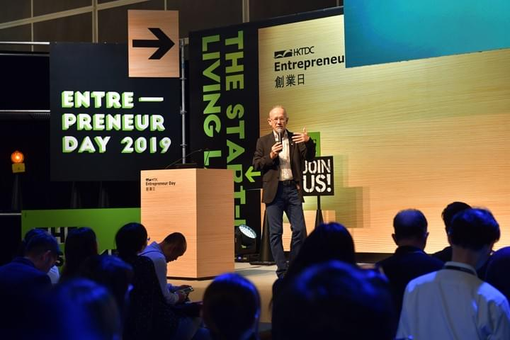 Christian Masset talking about storytelling skills for SMEs during Entrepreneur Day 2019