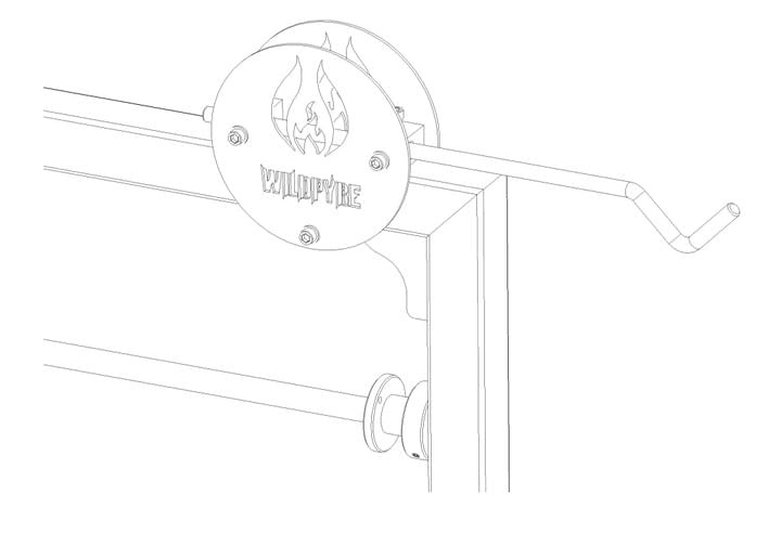 Wildpyre Parrilla Grill - Hook Bar made in the UK
