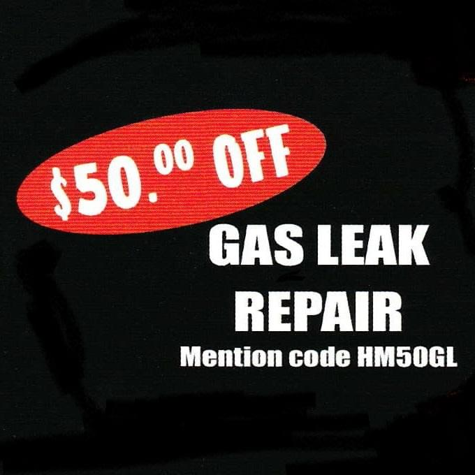 Save 50 Dollars On A Gas Pipe Leak Repair