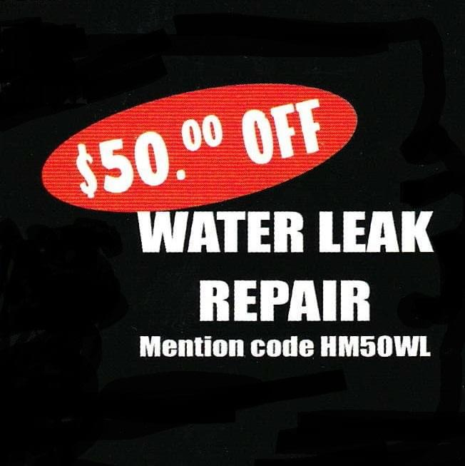 Save 50 Dollars On A Water Pipe Leak Repair