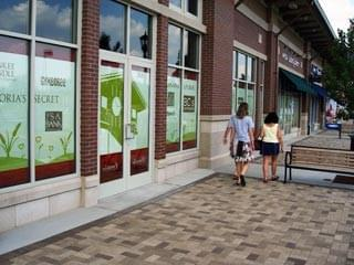 Window Signage and Window Graphics  at The Meadows Shopping Mall