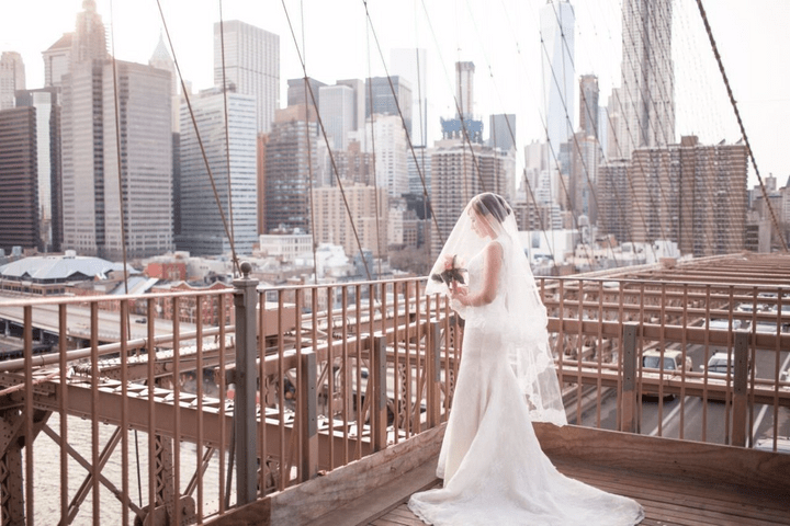 Brooklyn Bridge New York Wedding Photo by Vacation Photographer of PicVoyage