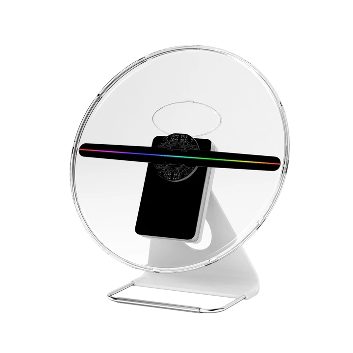 F-Z6 30cm portable 3D holographic fan with chargeable battery