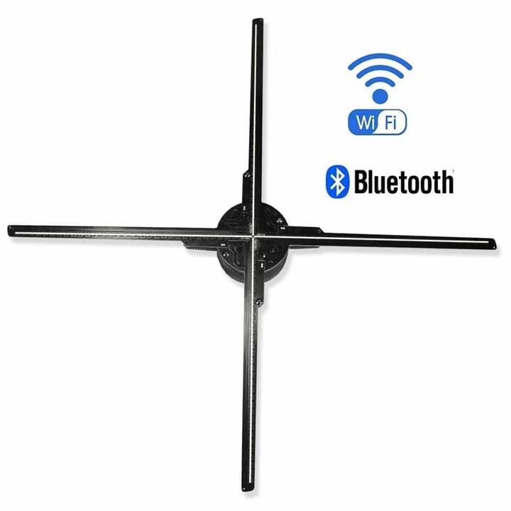 F-Z3 65cm WiFi 3D holographic LED fan bluetooht
