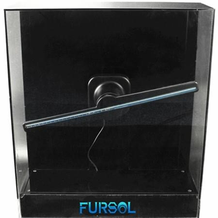 F-H2 Square transparent safety cover for 3D holographic LED fan display