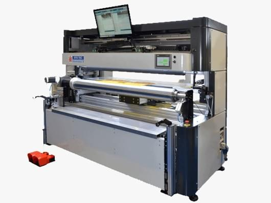 Wide web flexo plate mounters
