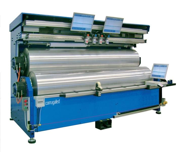 CORRUGATED plate mounter