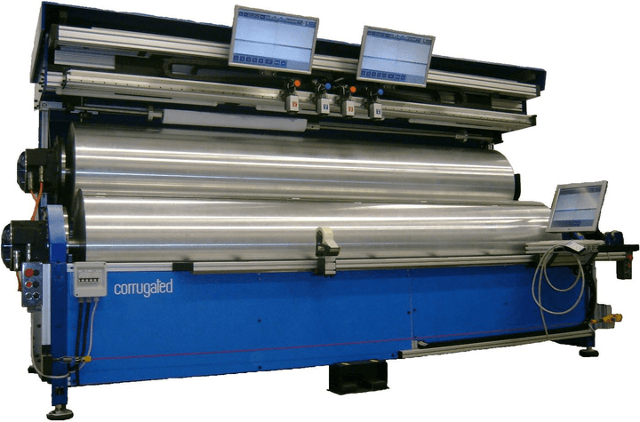 Plate mounters for corrugated card-boards, pre and post print