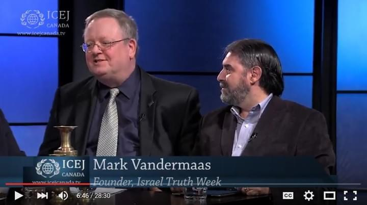 Mark Vandermaas of Israel Truth Week appears on Vision TV network Christian show, 'Inside Israel' for 4 roundtable discussions with renowned author/broadcaster Christine Williams moderating, 2015/2016