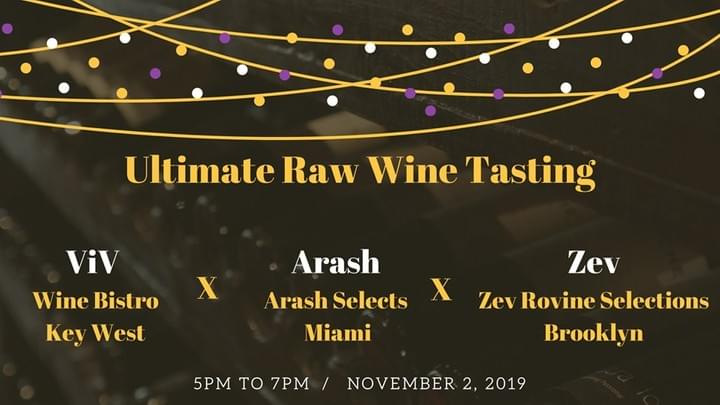 Ultimate raw wine tasting