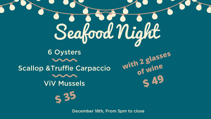 seafood night ViV wine bistro key west