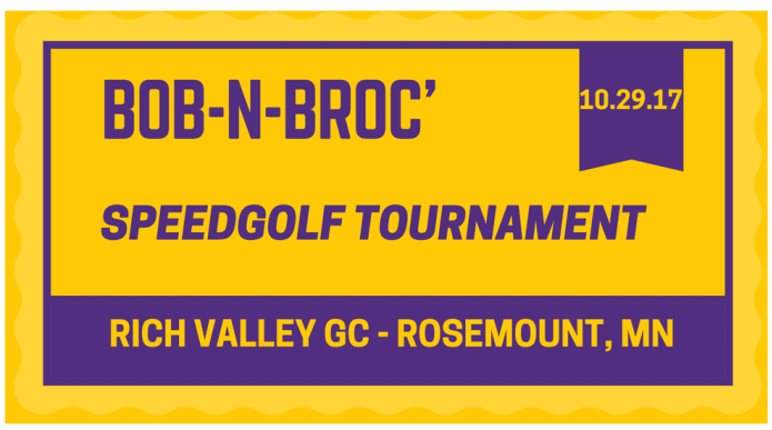 BOB-N-BROC SPEEDGOLF TOURNAMENT 2017