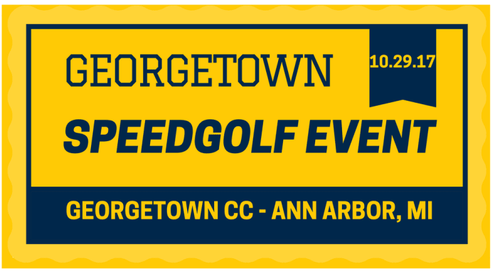 GEORGETOWN SPEEDGOLF EVENT 2017