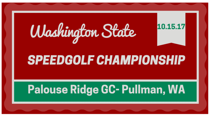 WASHINGTON STATE SPEEDGOLF CHAMPIONSHIP 2017
