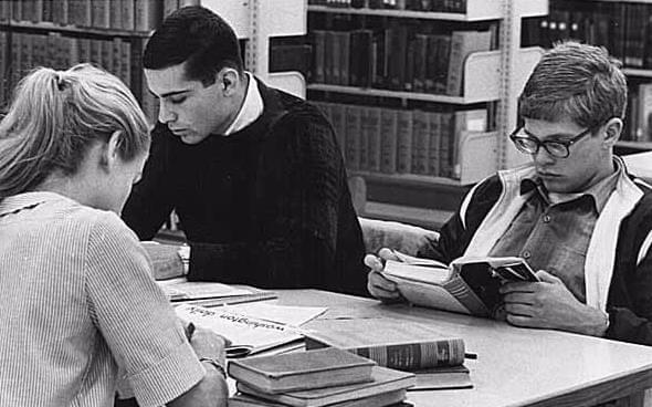 Students studying in Suzzallo LIbrary, University of Washington, 1962