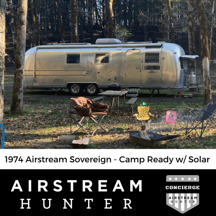 1974 AIRSTREAM SOVEREIGN ON AIRSTREAM HUNTER