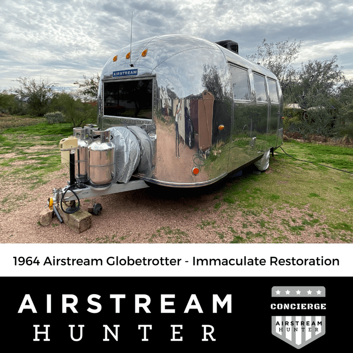 SOLD: 1964 Airstream Globetrotter on Airstream Hunter