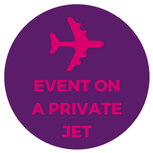 corporate event in private jet plane