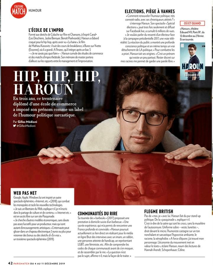 Haroun Portrait Paris Match