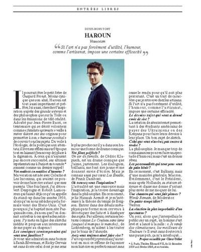 Haroun Interview Le Figaro