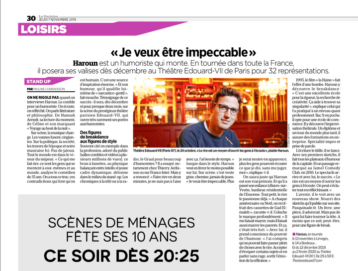 Haroun Interview Le Parisien