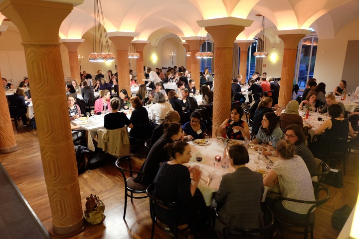Dinner I, Scientist 2017: Participants and speakers enjoying food and discussions