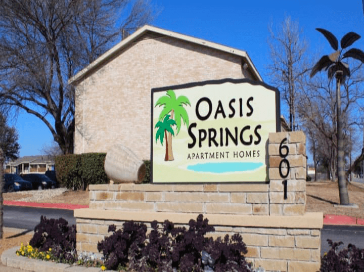 Oasis Springs, A class C, 154 unit residential apartment community located in far north Hurst, TX.
