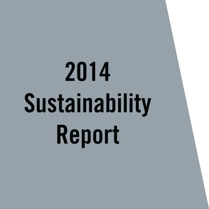 VCNY Home 2014 Sustainability Report