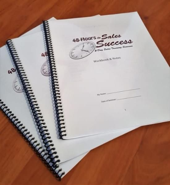 The actual workbooks from 48-Hours to Sales Success