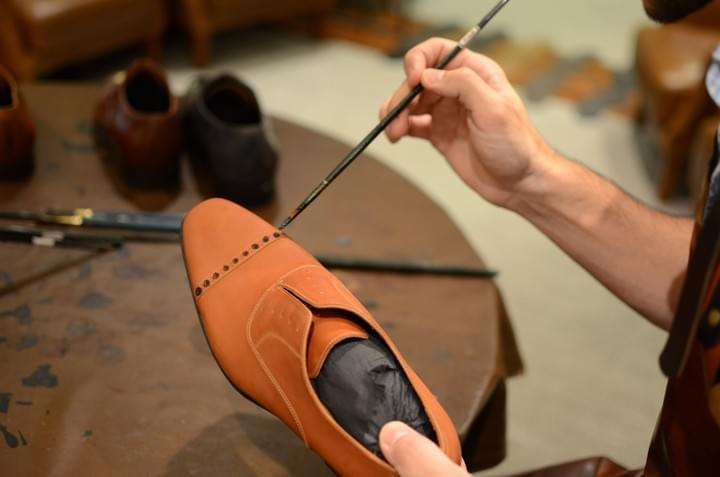 Barre & Brunel Footwear patina shoes in Hong Kong