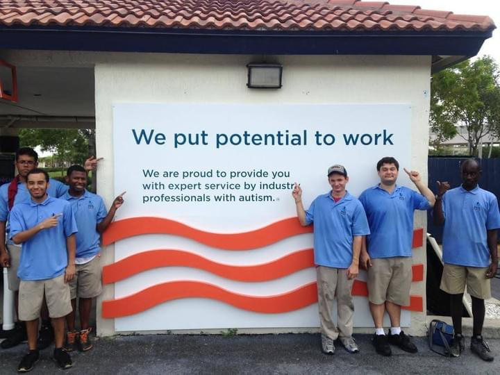 Rising Tide Car Wash Employees with autism