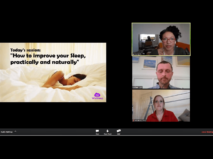WeSleep - Sleep workshops , webinars, sleep therapy , wellbeing , mental health