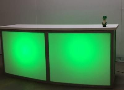 Lighted Frosted-Plexi Bar