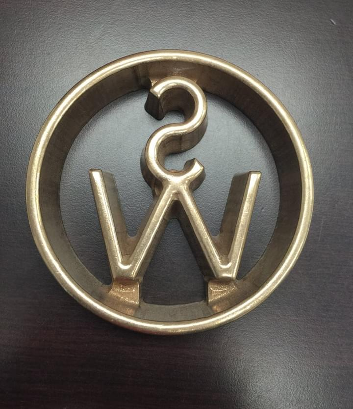 Custom Circle SW Freeze Branding Iron