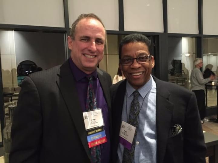 Andrew with Herbie Hancock at the 2015 JEN Conference in San Diego