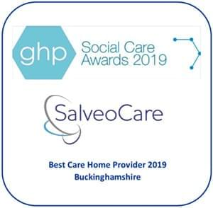 Best Care Home Provider 2019 Buckinghamshire.