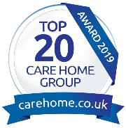Salveo Care - Top 20 Care Home UK 2019 award