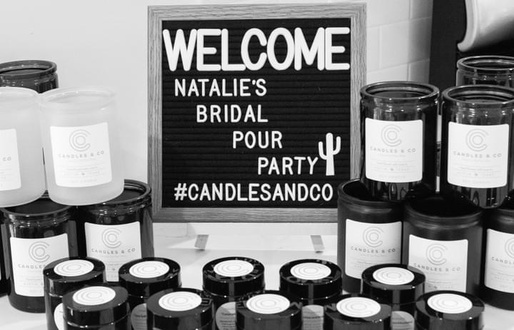 wedding candle gift