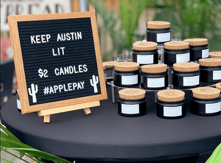 candle pour party corporate company activation austin texas