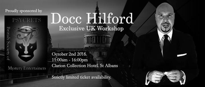 Docc Hilford UK workshop