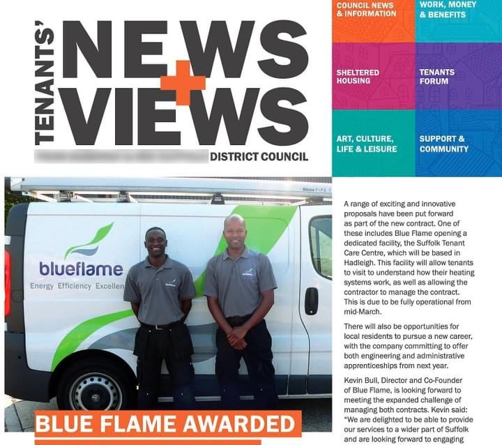Blueflame. Colchester. Award winning engineering.