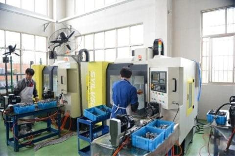 A CNC Vertical Machining Center